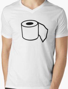 Toilet paper Mens V-Neck T-Shirt