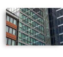 London Docklands Windows Canvas Print