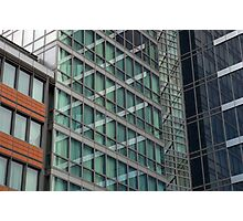 London Docklands Windows Photographic Print