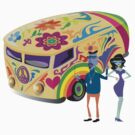 Psychedelic Bus & Beatniks by Zehda