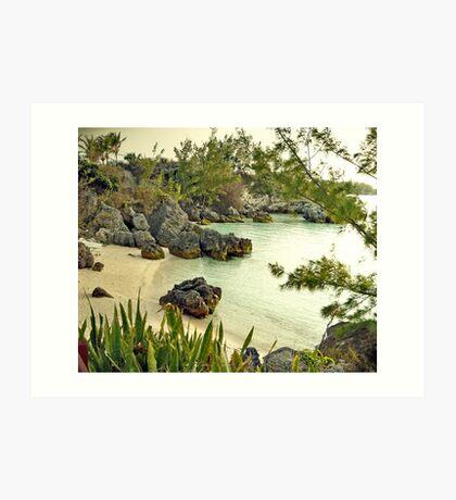 Willowbank Beach, Bermuda Art Print