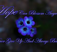 Hope Can Blossom Anywhere by HeavenOnEarth