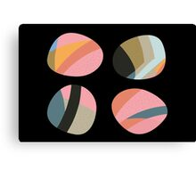 Striped patterned pebbles Canvas Print