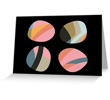 Striped patterned pebbles Greeting Card