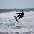 High flyer at Fistral beach, Cornwall by 1throughmyeyes