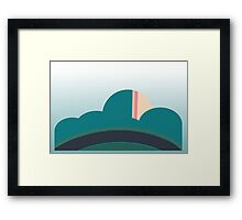 Turquoise and Green rolling vector hills Framed Print