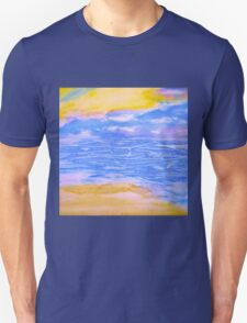 Atmospheric Layers with Beach Unisex T-Shirt