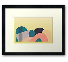 yellow graphic hills Framed Print