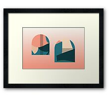Floral pattern domes Framed Print