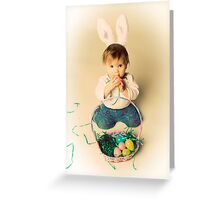 Easter Bunny Baby Greeting Card