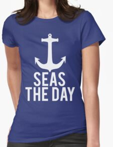 Seas The Day Womens Fitted T-Shirt