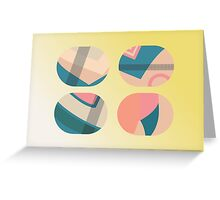 Patterns in cylinders Greeting Card