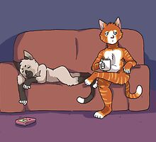 Cats on the Couch by Clair C