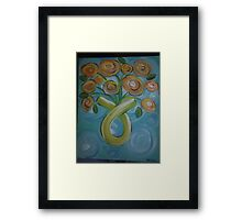 cancer bouque Framed Print