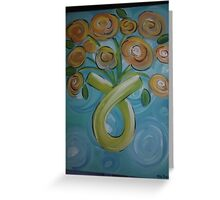 cancer bouque Greeting Card