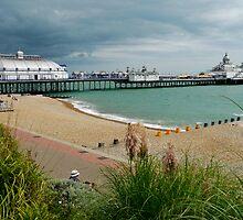 Eastbourne Beach and Pier by Roberto Herrett