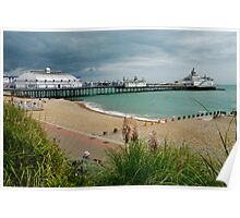Eastbourne Beach and Pier Poster