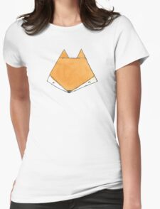 Fox Face Womens Fitted T-Shirt