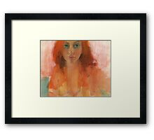 Zoe in acrylic Framed Print