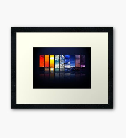 Spectrum of the Sky Framed Print
