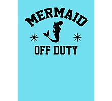 Off Duty Mermaid Photographic Print