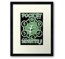 Pocket Monsters - Grass Framed Print