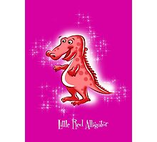 Little Red Alligator Photographic Print