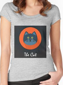 The Cat Cute Portrait Women's Fitted Scoop T-Shirt