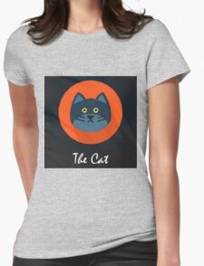 The Cat Cute Portrait Womens Fitted T-Shirt