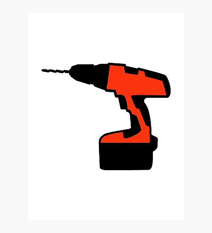 Cordless portable screwdriver Photographic Print