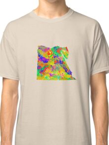 Watercolor Map of Egypt Classic T-Shirt