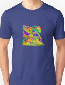 Watercolor Map of Egypt T-Shirt