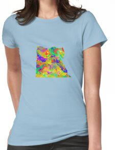 Watercolor Map of Egypt Womens Fitted T-Shirt
