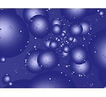 Blue Bubbles Photographic Print