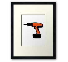 Cordless portable screwdriver Framed Print