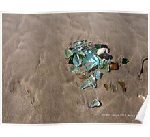 Sea Glass on the Beach Poster