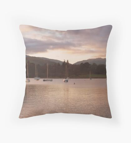 windermere as evening draws in Throw Pillow