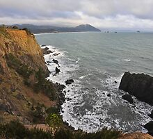 The Cliffs of Port Orford by Randall Scholten