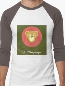 The Chimpanzee Cute Portrait Men's Baseball ¾ T-Shirt