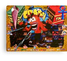 Crash Bandicoot - PixelLust Canvas Print