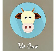 The Cow Cute Portrait Photographic Print