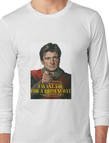 I Want You for a browncoat Long Sleeve T-Shirt