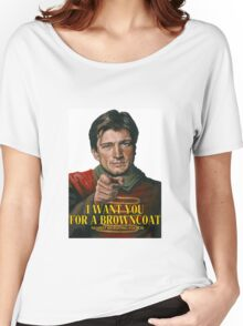 I Want You for a browncoat Women's Relaxed Fit T-Shirt
