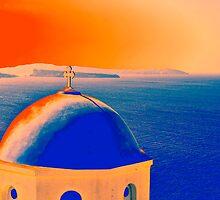 Santorini Impression by Teresa Zieba