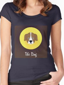 The Dog Cute Portrait Women's Fitted Scoop T-Shirt