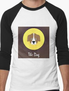 The Dog Cute Portrait Men's Baseball ¾ T-Shirt