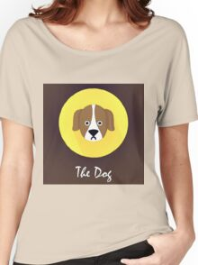 The Dog Cute Portrait Women's Relaxed Fit T-Shirt