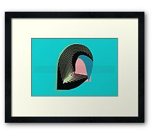 Leaf inspired abstract Framed Print