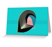 Leaf inspired abstract Greeting Card