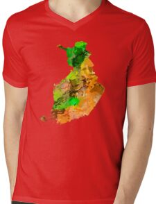 Map of  Finland Mens V-Neck T-Shirt